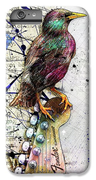 Starling On A Strat IPhone 6 Plus Case by Gary Bodnar