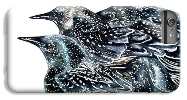 Starlings IPhone 6 Plus Case by Marie Burke