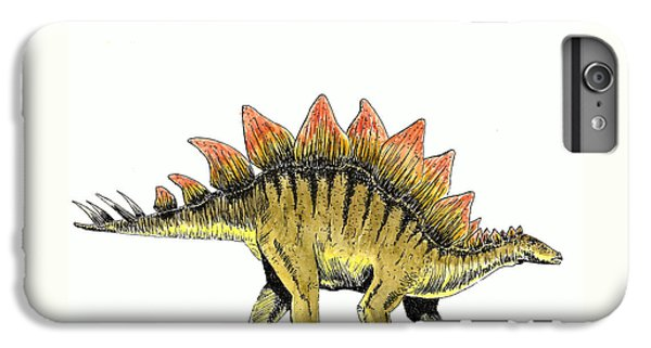 Stegosaurus IPhone 6 Plus Case by Michael Vigliotti