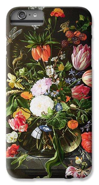 Still Life Of Flowers IPhone 6 Plus Case by Jan Davidsz de Heem