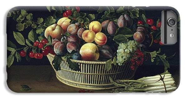 Still Life With A Basket Of Fruit And A Bunch Of Asparagus IPhone 6 Plus Case by Louise Moillon