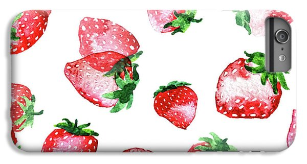 Strawberries IPhone 6 Plus Case by Varpu Kronholm