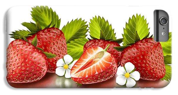Strawberries IPhone 6 Plus Case by Veronica Minozzi