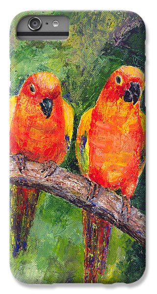 Sun Parakeets IPhone 6 Plus Case by Arline Wagner
