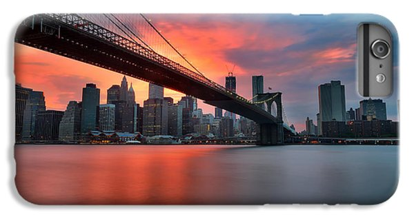 Sunset Over Manhattan IPhone 6 Plus Case by Larry Marshall