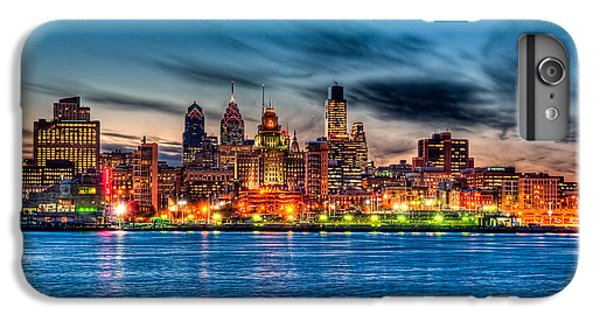 Sunset Over Philadelphia IPhone 6 Plus Case by Louis Dallara