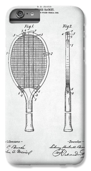 Tennis Racket Patent 1907 IPhone 6 Plus Case by Taylan Apukovska