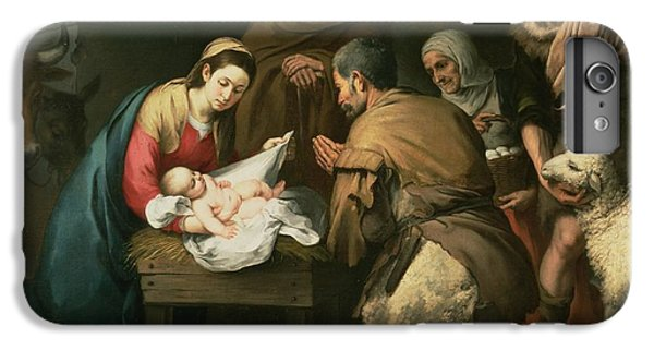 The Adoration Of The Shepherds IPhone 6 Plus Case by Bartolome Esteban Murillo