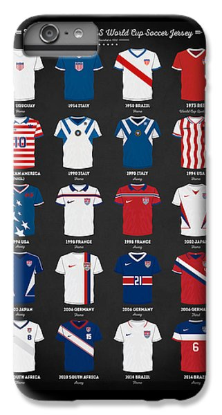 The Evolution Of The Us World Cup Soccer Jersey IPhone 6 Plus Case by Taylan Soyturk
