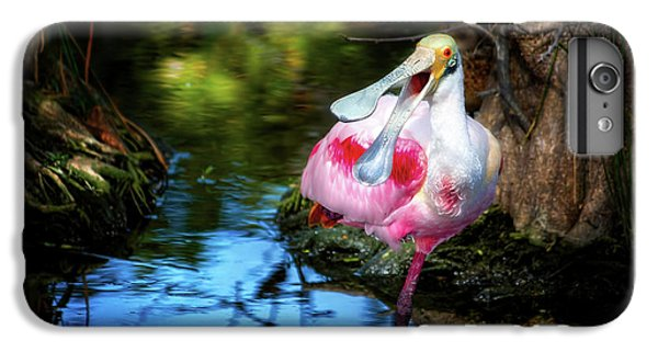 The Happy Spoonbill IPhone 6 Plus Case by Mark Andrew Thomas