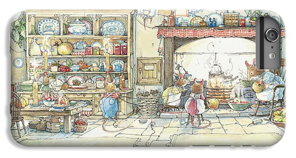 The Kitchen At Crabapple Cottage IPhone 6 Plus Case by Brambly Hedge
