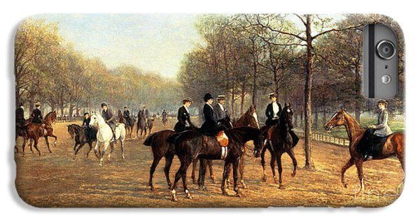 The Morning Ride Rotten Row Hyde Park IPhone 6 Plus Case by Heywood Hardy