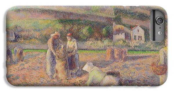 The Potato Harvest IPhone 6 Plus Case by Camille Pissarro