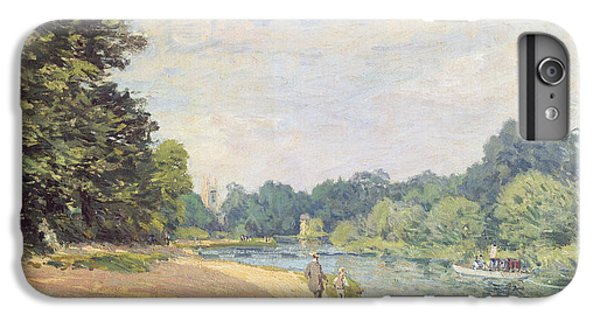 The Thames With Hampton Church IPhone 6 Plus Case by Alfred Sisley