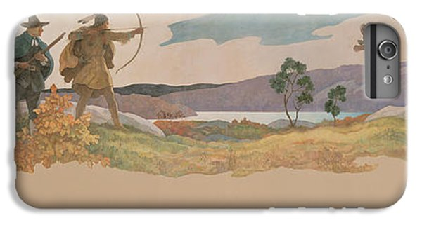 The Turkey Hunters IPhone 6 Plus Case by Newell Convers Wyeth