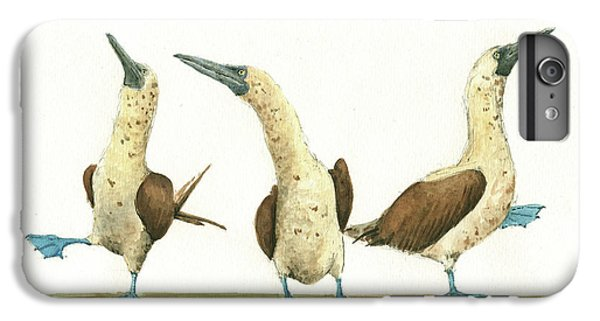 Three Blue Footed Boobies IPhone 6 Plus Case by Juan Bosco