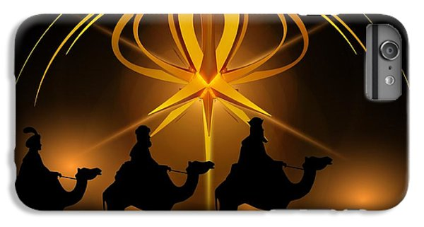 Three Wise Men Christmas Card IPhone 6 Plus Case by Bellesouth Studio