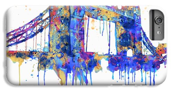 Tower Bridge Watercolor IPhone 6 Plus Case by Marian Voicu