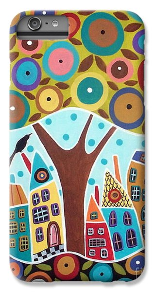Tree Eight Houses And A Bird IPhone 6 Plus Case by Karla Gerard