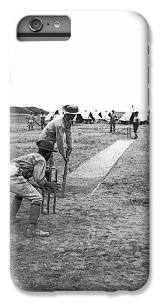 Troops Playing Cricket IPhone 6 Plus Case by Underwood Archives
