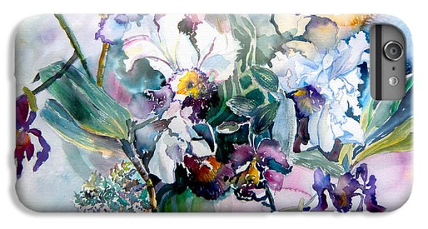 Tropical White Orchids IPhone 6 Plus Case by Mindy Newman