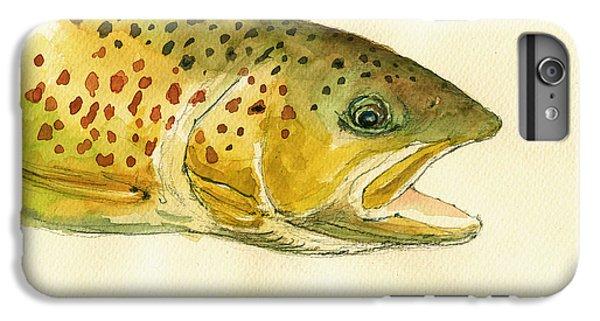 Trout Watercolor Painting IPhone 6 Plus Case by Juan  Bosco