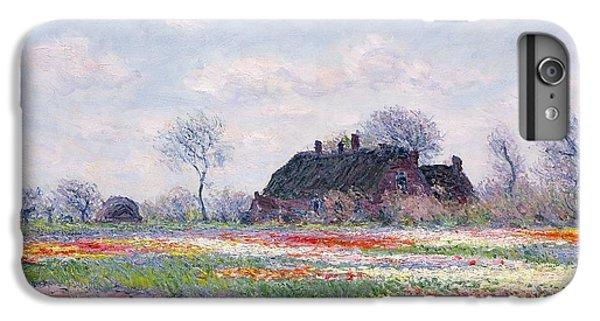 Tulip Fields At Sassenheim IPhone 6 Plus Case by Claude Monet