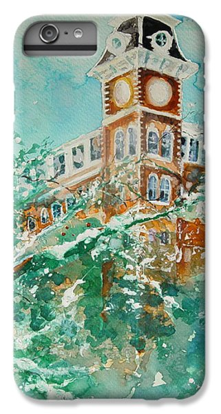 Ice On Old Main IPhone 6 Plus Case by Robin Miller-Bookhout