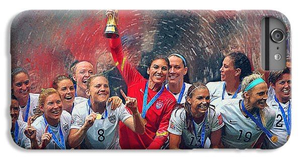 Us Women's Soccer IPhone 6 Plus Case by Semih Yurdabak