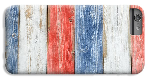 Vertical Stressed Boards Painted In Usa National Colors IPhone 6 Plus Case by Thomas Baker