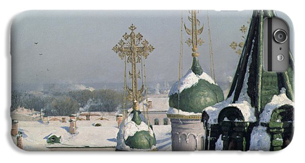View From A Window Of The Moscow School Of Painting IPhone 6 Plus Case by Sergei Ivanovich Svetoslavsky