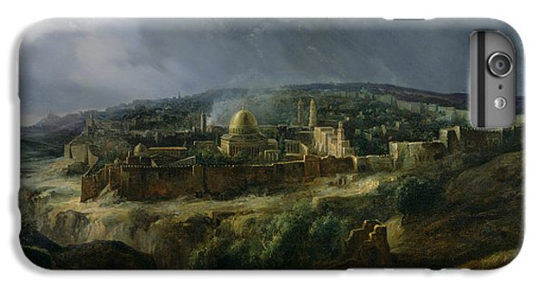 View Of Jerusalem From The Valley Of Jehoshaphat IPhone 6 Plus Case by Auguste Forbin