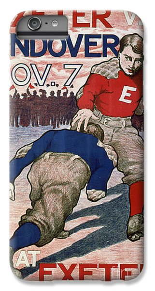 Vintage College Football Exeter Andover IPhone 6 Plus Case by Edward Fielding