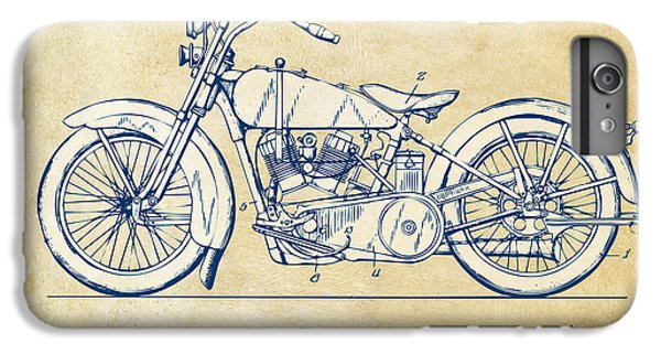 Vintage Harley-davidson Motorcycle 1928 Patent Artwork IPhone 6 Plus Case by Nikki Smith