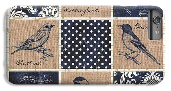 Vintage Songbird Patch 2 IPhone 6 Plus Case by Debbie DeWitt