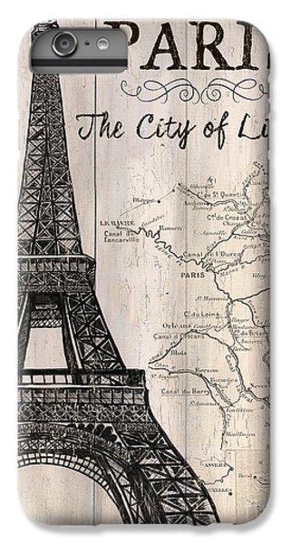 Vintage Travel Poster Paris IPhone 6 Plus Case by Debbie DeWitt