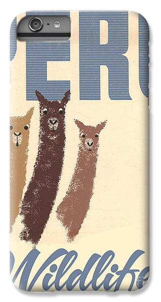 Vintage Wild Life Travel Llamas IPhone 6 Plus Case by Mindy Sommers
