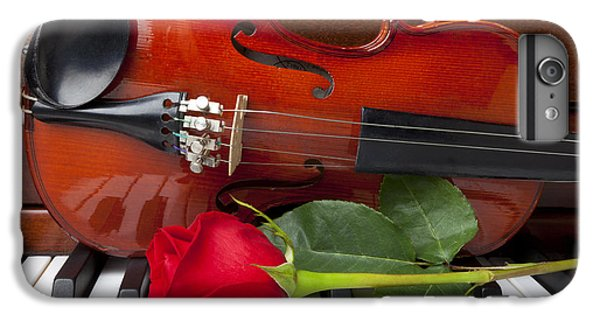 Violin With Rose On Piano IPhone 6 Plus Case by Garry Gay