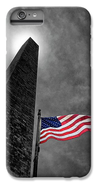 Washington Monument And The Stars And Stripes IPhone 6 Plus Case by Andrew Soundarajan