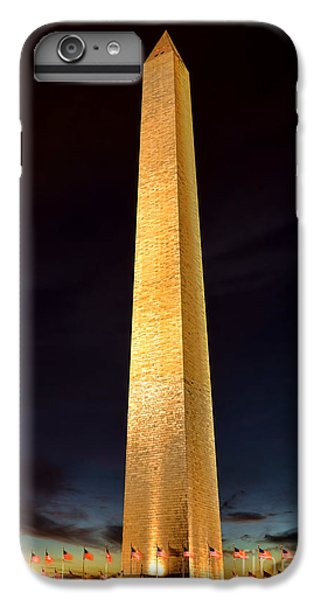 Washington Monument At Night  IPhone 6 Plus Case by Olivier Le Queinec