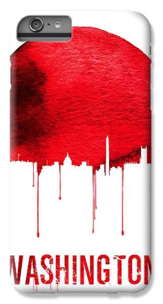 Washington Skyline Red IPhone 6 Plus Case by Naxart Studio