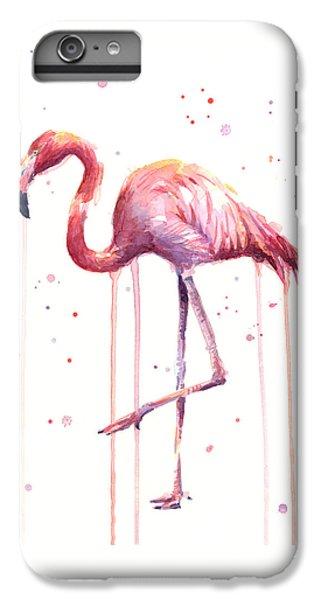 Watercolor Flamingo IPhone 6 Plus Case by Olga Shvartsur