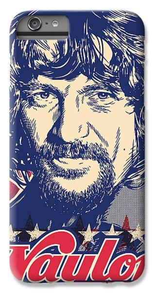 Waylon Jennings Pop Art IPhone 6 Plus Case by Jim Zahniser