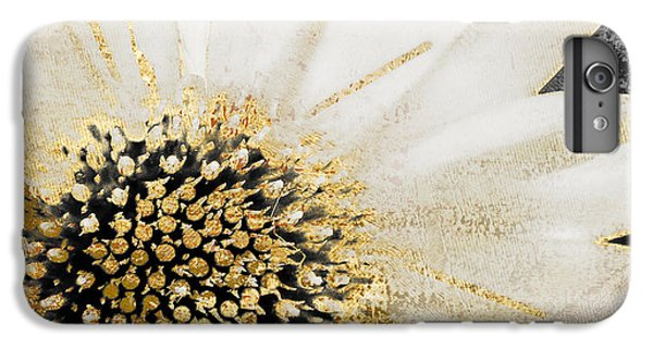White And Gold Daisy IPhone 6 Plus Case by Mindy Sommers