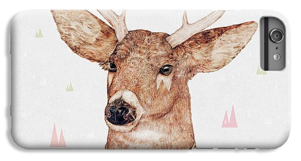 White Tailed Deer Square IPhone 6 Plus Case by Animal Crew