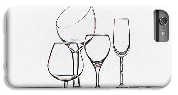 Wineglass Graphic IPhone 6 Plus Case by Tom Mc Nemar