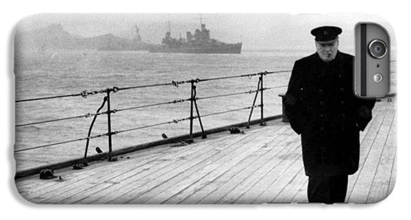 Winston Churchill At Sea IPhone 6 Plus Case by War Is Hell Store