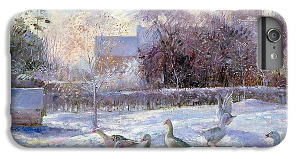 Winter Geese In Church Meadow IPhone 6 Plus Case by Timothy Easton