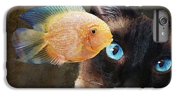 Wishful Thinking 2 - Siamese Cat Art - Sharon Cummings IPhone 6 Plus Case by Sharon Cummings