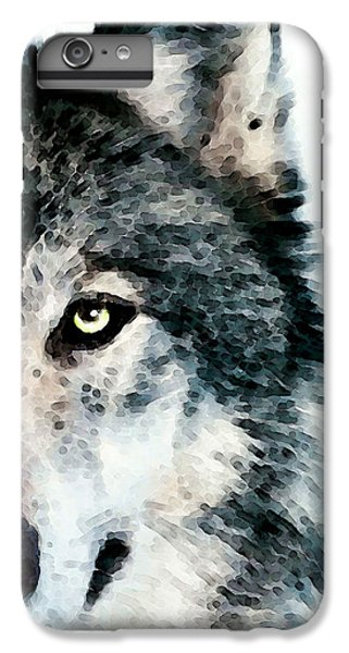 Wolf Art - Timber IPhone 6 Plus Case by Sharon Cummings